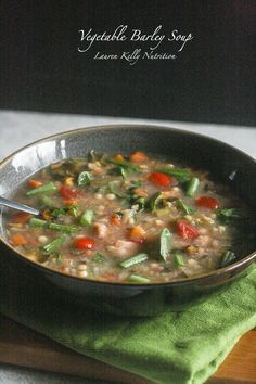 Perfect for bitter cold days: Vegetable Barley Soup is simple, hearty, and warming. Use 2 cans of navy beans and skip the optional Parm at the end, and this serves 6 for Phase 1 (saute in broth instead of oil, and serve with 2/3 of a grain serving) and Phase 3.