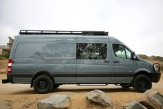 Mercedes Sprinter from Johnson Custom Van Solutions with Aluminess roof rack and bumpers