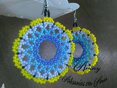 Seed Bead Earrings, Round Earrings, Beaded Earrings, Seed Beads, Crochet Earrings, Beaded Jewelry Patterns, Embroidery Jewelry, Native American Beadwork, Beaded Flowers