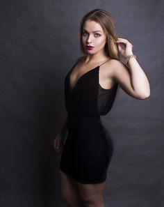 black velvet mini dress V-neck V-back