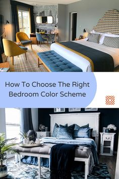 You may be surprised by how much of an impact the color of a bedroom can have on your mood and energy. Check out these color scheme ideas and design tips for bedrooms, and choose the right bedroom color scheme for you.