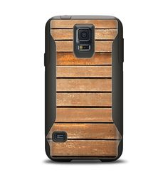 The Worn Wooden Panks Samsung Galaxy S5 Otterbox Commuter Case Skin Set from Design Skinz, INC.