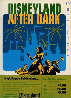 Vintage Disneyland poster (I wish it was still only $4.50 to go!)