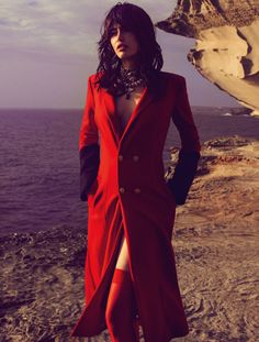 Scarlet Fever – Sarah Stephens is red-hot in scarlet looks for the autumn issue of Fashion Quarterly New Zealand.
