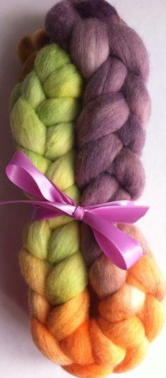 Springtime feelings Merino spinning fiber by Ulljente on Etsy Spring Time, Spinning, Fiber, Hand Painted, Feelings, Handmade, Etsy, Hand Spinning, Hand Made
