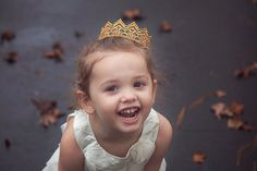 ❤️❤️❤️ Doesn't this crown make her look like a princess?! It's adorable and on SALE!! Golden Lace Crowns for Toddler's by #JuliesElegantCrafts On Sale! Get one for your little princess now before they sell out!! ❤️❤️❤️ Photography by Southern Willow Photography, LLC