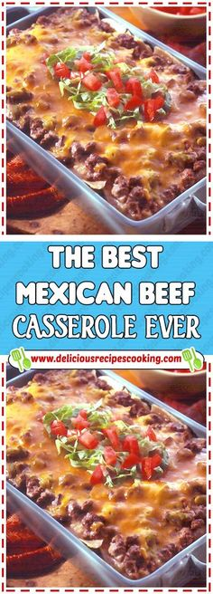 The best mexican beef casserole ever - healthy recipes & list of dishes Mexican Beef Casserole, Beef Casserole Recipes, Enchilada Casserole Beef, Taco Bake Casserole, Hamburger Casserole, Sausage Recipes, Casserole Dishes, Kids Cooking Recipes, Dinner Recipes For Kids