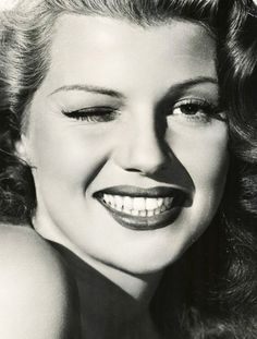 Rita Hayworth. Beautiful smile.