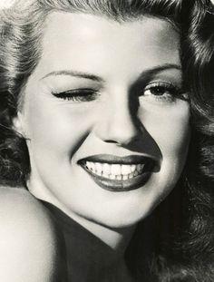 Rita Hayworth. Beautiful smile.