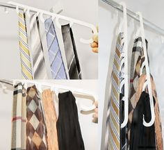 More unique gift ideas from LiftNFind. This is a great simple Tie Hanger and Scarf Hanger. Put in each loop! Tie Hanger, Scarf Hanger, Small Tray, Large Tray, Home Living Room, Wardrobe Rack, Unique Gifts, Gift Ideas, Simple