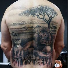 The Lion Family Tattoo. Not only humans, animals does have a family too. This lion family is an evidence of the same. Good Family Tattoo, Family Tattoos For Men, Family Tattoo Designs, Tattoo Designs Men, Tattoos For Guys, Dog Tattoos, Animal Tattoos, Sleeve Tattoos, Father Tattoos