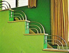 Deco Staircase, Davis Hotel, Miami Beach, Florida