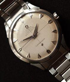 Vintage OMEGA constellation Piepan Chronometer On Flat-Link Bracelet Circa 1950s - http://omegaforums.net