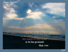 Psalm 113:3 and sunrise at the beach