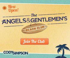 The Angels & Gentlemen's Beach Club membership-Cody Simpson's fan club