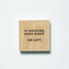 Design typography art wood picture  go left.  by navucko on Etsy, u20ac16.00