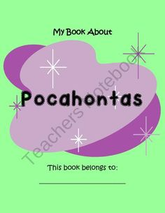 Pocahontas- 19 Pages of Fun Activities product from Your-Teachers-Aide on TeachersNotebook.com
