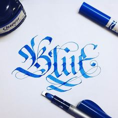 BLUE  #typography #typewa #calligraphy #lettering #handwriting #wanghuy #typeface #typoholic #typegang #typographie #typographyserved #typostrate #typographyinspired #typespire #typewriter #goodtype #thedailytype #handtype #typeverything #handmadefont #handlettering #sketch #blue #pilotpen #queenink #typovn