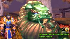 Mists of Pandaria: Rare Tame Guide - Portent (view the guide at http://soentertain.me/2012/11/warcraft-mop-taming-the-green-portent/)
