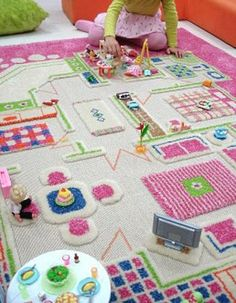 Awesome Playroom Carpet for a dolls instead of a doll house!