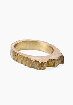 Bronze Wooden Ring by MARIE-MAUDE BRUNET-(Marmod8)- Montreal, Quebec, CANADA