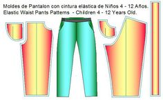 moldes pantalon pretina elastica