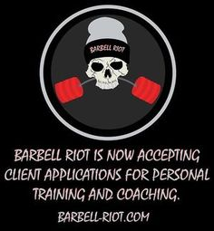 Barbell Riot is now accepting client applications for personal training and coaching. DM for details or email at: barbellriot@outlook@.com • • • • #barbellriot #powerlifting #strength #strong #lift #lifting #bodybuilding #aesthetics #muscle #flex #gym #gymtime #workout #weights #weightlifting #dedication #grind #gohard #work #gains #igfit #igfitness #fitlife #fitfam #fitness #fit #instafit #goals #results #personaltrainer