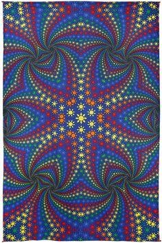 Handmade 100% Cotton Twisted Suns Hippie Bohemian Tapestry Tablecloth Throw Beach Sheet Dorm Decor 60x90