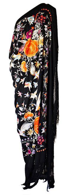 1920s Silk Embroidered Piano Shawl ~  http://fashion.1stdibs.com/avl_item_detail.php?id=62476