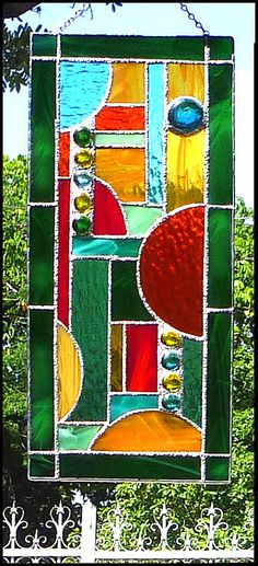 Hey, I found this really awesome Etsy listing at https://www.etsy.com/listing/159893810/geometric-stained-glass-suncatcher-green