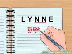 Image titled Write in Elvish Step 8