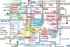Madrid Neighborhood Map barrio overview by Naked Madrid