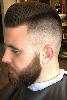Zero Low Fade Shape Up Cut In High Side Part Tight