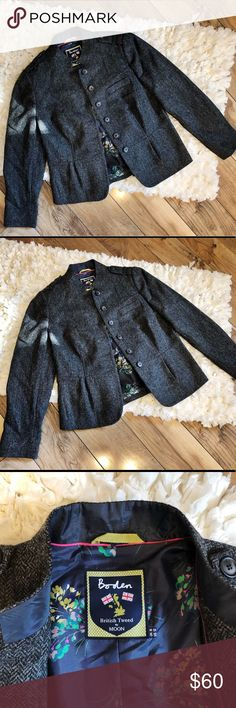 Boden British Moon Tweed Wool Blazer Jacket Excellent condition with no flaws Boden Jackets & Coats Blazers