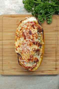 Chicken Parm-Stuffed Spaghetti Squash