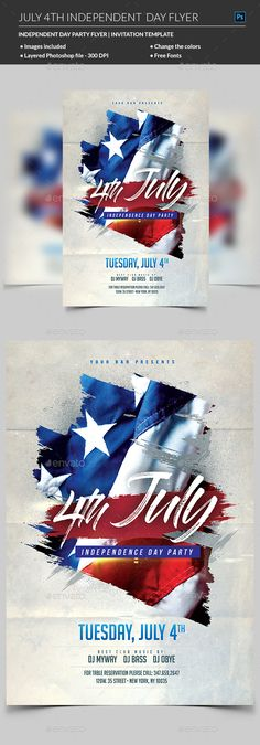 4th of July Flyer Flyer template - independence day flyer