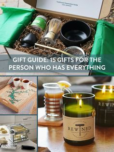 We found all those illusive gifts for the person who has everything!