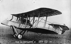 De Havilland 1.A two seat fighter-reconnaissance biplane. Serial number 46