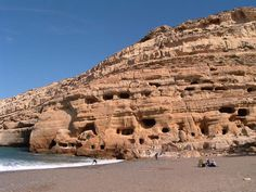 Matala is a small village far away from Heraklion.Clean and sandy beaches, taverns nera the sea and very quite place for holidays. Cyprus, Sandy Beaches, Crete, Far Away, Grand Canyon, Mount Rushmore, Beautiful Places, Places To Visit, Explore