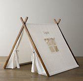 Printed Canvas A-Frame Tent Grey Star