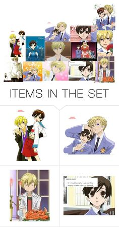 """""""Haruhi and Tamaki"""" by summersnow-975 on Polyvore featuring art"""