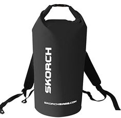 SKORCH Waterproof Backpack Dry Bag With Comfortable Black Padded Shoulder Straps 40 litre Black Beach Kayak Paddle Board Camping Sailing and Skiing Black Backpack -- Find out more about the great product at the image link. Rucksack Bag, Black Backpack, Boat Safety, Kayak Paddle, Kayak Camping, Waterproof Backpack, Elite Socks, Paddle Boarding