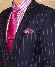 Gibson navy w/ pink stripe suit, Jones New York shirt, Michael Kors tie… Dapper Suits, Suit Up, Well Dressed Men, Pink Stripes, Color Combinations, Cool Style, Menswear, Grown Man, Mens Fashion