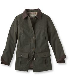 Adirondack Barn Coat, Waxed Cotton: Casual Jackets | Free Shipping at L.L.Bean