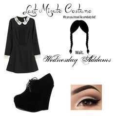 Designer Clothes, Shoes & Bags for Women Last Minute Costumes, Wednesday Addams, Link, Polyvore, Stuff To Buy, Shopping, Dresses, Design, Women
