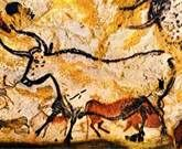 EXPRESSION: Lascaux is the most famous cave painting site. It was discovered in 1940 by four teenage boys on accident. Cave paintings are about years old