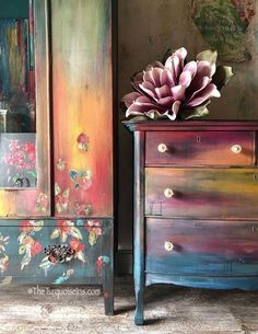 Moody Sunset Dresser #paintedfurniture #affiliate