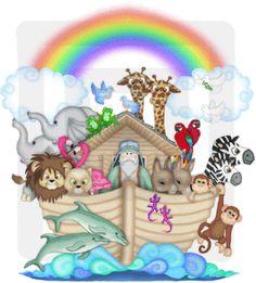 Noahs Ark Mural Decal