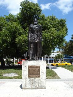 Ponce de Leon at Bayfront Park Miami. Ponce de Leon was the first governor of Puerto Rico.