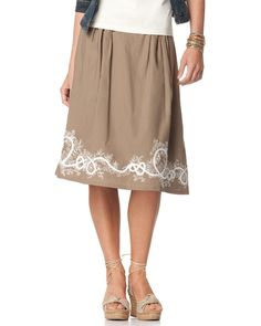 Border embroidered skirt Coldwater Creek